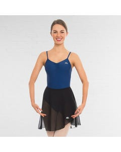 ABD Ballet Grades 5+ Jupe Portefeuille Noire en Voile