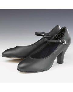 Capezio Theatrical Footlight™ Chaussures en Cuir Noir