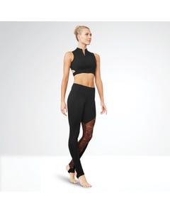 Bloch Gigi - Legging à étriers asymétrique à empiècement