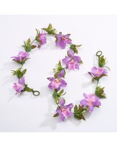 Guirlande de Fleurs Artificielles - Violet (1m environ)