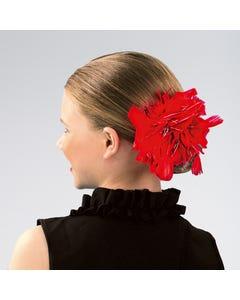 Pince cheveux étincelante à plumes