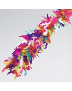 Echarpe de plumes multicolores