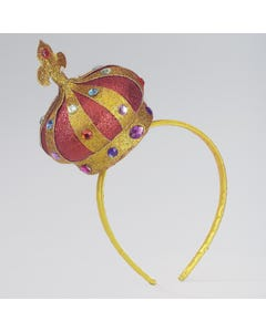 Petite couronne dorée sur serre-tête