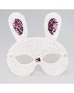 Masque à paillettes lapin