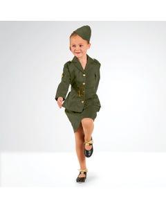 Costume Fille Armée de la 2de Guerre Mondiale - Enfant