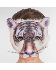 Masque de Tigre Imprimé avec Fourrure